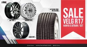 Velg Sale Ring 17 HSR Wheel, 1 Set dan Ban Cuma 6 Jt-an!