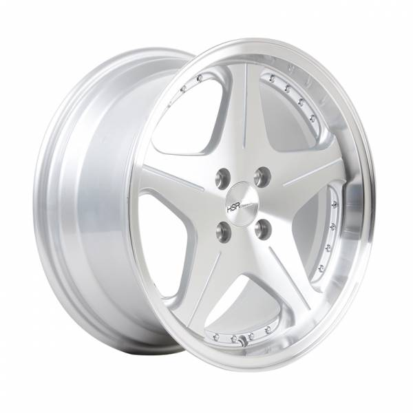 HSR Anambas H5044 R16x7,5-8,75 H4x100 ET18-35 Silver Machine Face+Chrome Rivets