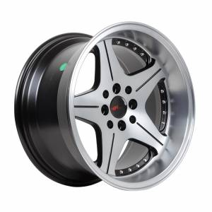 HSR Anambas H5044 R16x7,5-8,75 H8x100-114,3 ET18-35 Black Oil Face+Chrome