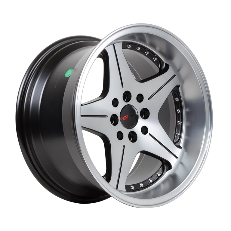 HSR Anambas H5044 R16x7,5-8,75 H8x100-114,3 ET18-35 Black Oil Fac+Chrome