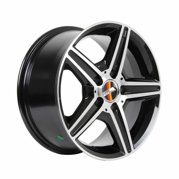 HSR Jetsy AM030 R16x7,5 H5x112 ET35 Black Machine Face & Ring