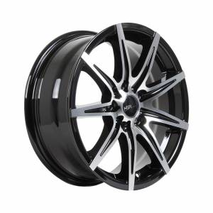 HSR Kccx JD76 Ring 16x6,5 H5x114,3 ET42 Black Machine Face