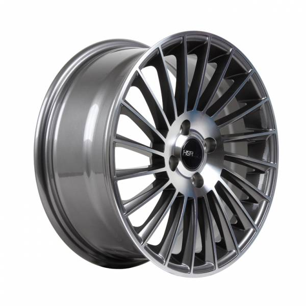 HSR Numfor H1013 R15x7 H4x100 ET38 Grey Machine Face