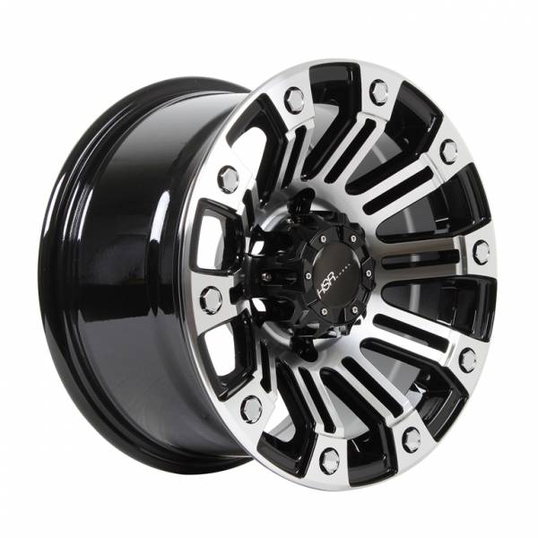HSR Sahara JT9027 Ring 15x8 H6x139,7 ET 8 Black Machine Face
