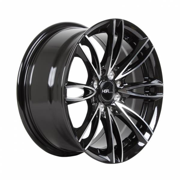HSR Urban H887 Ring 15x7 H8x100-114,3 ET38 Black Machine Face