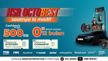 Promo HSR Octobest:Beli HSR Wheel di Tokopedia, Ralali dan Blibli Dapat Cashback Hingga 500 Ribu!
