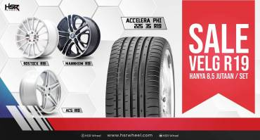 Velg Sale Ring 19 HSR Wheel Hanya 8,5 Jutaan Satu Set!