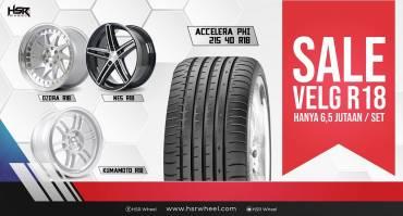 Velg Sale Ring 18 HSR Wheel, Rp6,5 Jt-an Untuk 1 Set & Ban