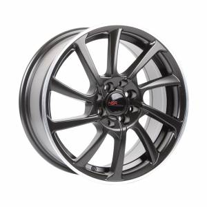 HSR ABT 69013 Ring 16x7 H8x100-114,3 ET42 Semi Matt Black+Machine Ring