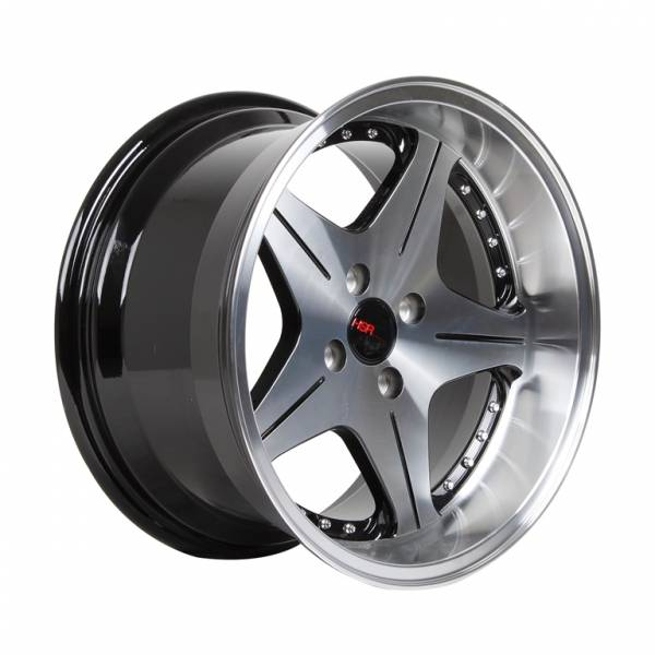 HSR AnamHSR Anambas H5044 Ring 16x7,5-8,75 H4x100 ET35-18 Black Machine Face + Chrome Rivetsbas H5044 Ring 16x7,5-8,75 H4x100 ET35-18 Black Machine Face + Chrome Rivets