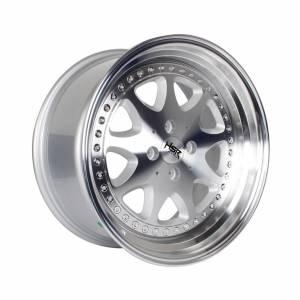 HSR Bavaria JD9016 Ring 17x7,5-8,5 H4x100 ET45-37 Silver Machine Face & Lip