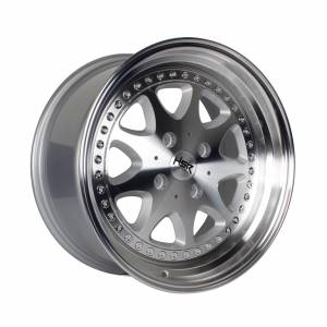 HSR Bavaria JD9016 Ring 17x7,5-8,5 H4x114,3 ET45-37 Silver Machine Face & Lip