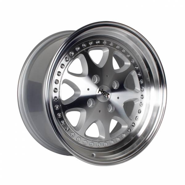 HSR Bavaria JD9016 Ring 17x7,5-8,5 H4x114,3 ET45-37 Silver Machine Face & Lip