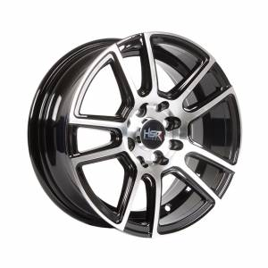 HSR Dabun H10963 Ring 14x6 H8x100-114.3 ET25 Black Machine Face