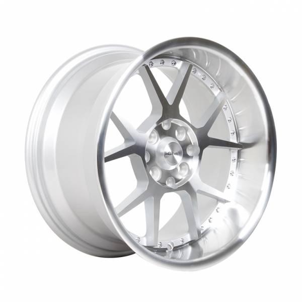 HSR Dogiyai H5043 Ring 16x7,5-8,75 H8x100-114,3 ET35-25 Silver Machine Face+Chrome Rivets