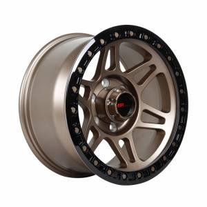 HSR Gayo H6009 Ring 17x9 H6x139,7 ET0 Semi Matte Black Bronze+Black Lip+Bronze Rivets