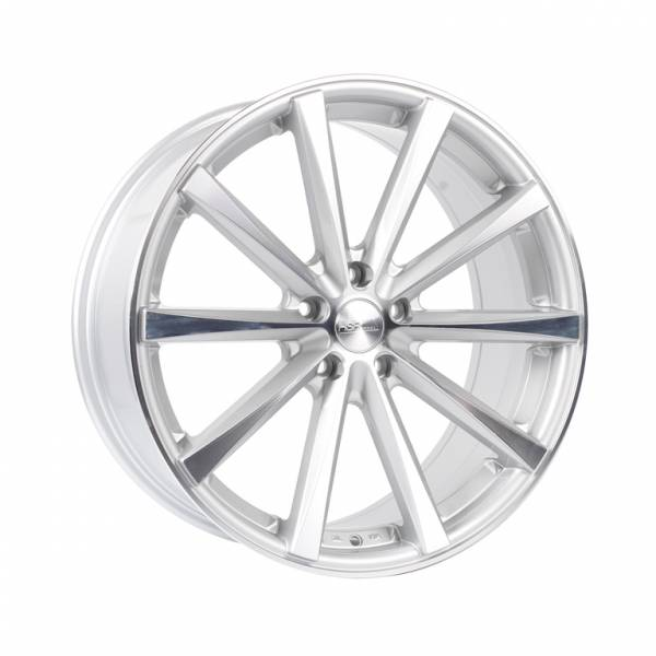 HSR Hustler JD9018 Ring 19x8-9 H5x112 ET45-40 Silver Machine Face