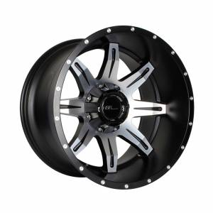 HSR Kanigoro 8047 Ring 20x12 H12x135-139,7 ET-44 Mate Black+Milled Spoke&Rivets