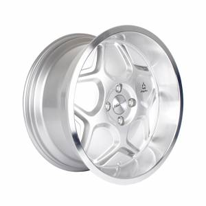 HSR MYTH04 Ring 17x7,5-8,5 H4x100 ET40-38 Silver Machine Lip
