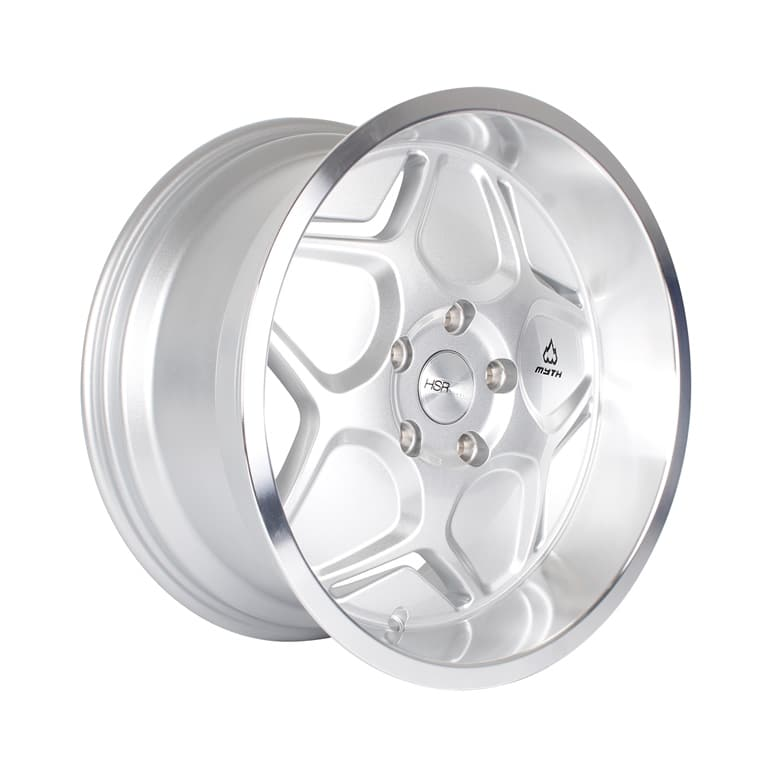 HSR MYTH04 Ring 17x7,5-8,5 H5x114,3 ET40-38 Silver Machine Lip