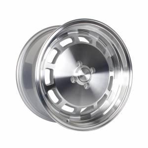 HSR Nemesis JD7331 Ring 17x7,5-8,5 H4x100 ET42-38 Silver Machine Face & Lip