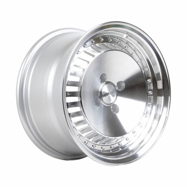 HSR Sasebo H475 Ring 15x7-8 H4x100 ET35-20 Silver Machine Face