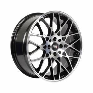 HSR Tangse H12833 Ring 17x7 H8x100-114.3 ET42 Black Machine Face