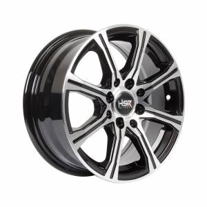 HSR Tejakula H81423 Ring 14x6 H8x100-114.3 ET40 Black Machine Face