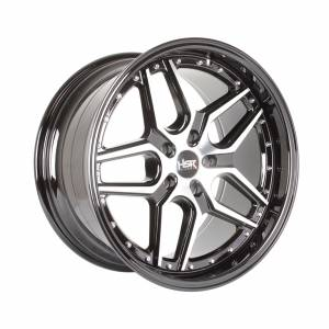 HSR Arosbaya CS15 Ring 18x8,5-9,5 H5x114.3 ET32-35 Black Machine Face1