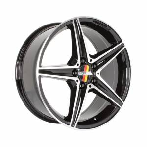 HSR Blega D5376 Ring 18x8 H5x112 ET45 Black Machine Face1