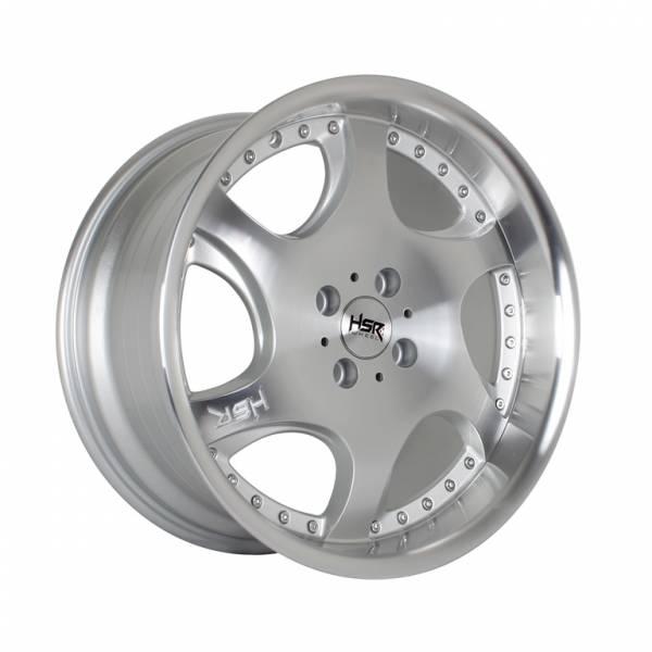 HSR Gangnam H6052 Ring 17x7,5-8,5 H4x100 ET42-38 Silver Machine Face Machine Lips1