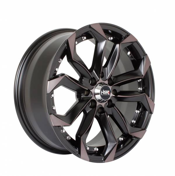 HSR Labang H5120 Ring 16x7 H8x100-114.3 ET35 Black Machine Face Oil Face1