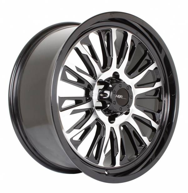 HSR Melawi WL155 Ring 20X9 H6x139.7 ET18 Black Machine Face1