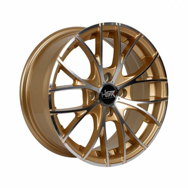 HSR Naples H552 Ring 15x6,5 H4x100 ET38 Gold Machine Face1
