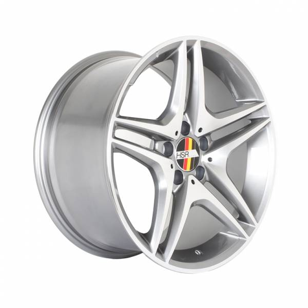 HSR Rostock S500 AM5055 Ring 18x8,5-9,5 H5x112 ET45 Grey Machine Face1