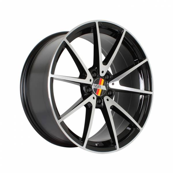 HSR Rostock SLS02 AM5442 Ring 19x8,5-9,5 H5x112 ET45 Black Machine Face1