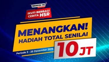 Ayo Ikuti Berbagi Cerita HSR, Dapatkan Total Hadiah Hingga 10 Juta!