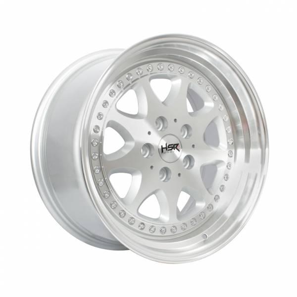 HSR Bavaria JD9016 Ring 17x7,5-8,5 H5x112 ET35 Silver Machine Face Lips1