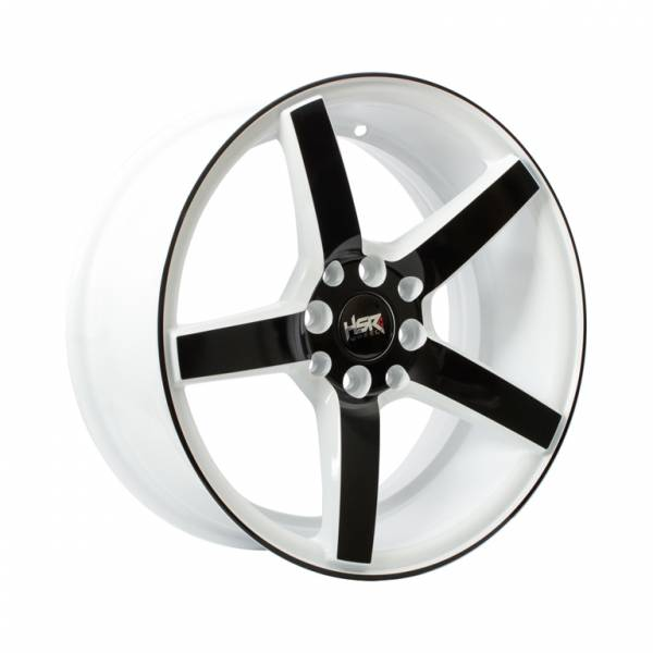 HSR NE3 JD265 Ring 16x7 H8x100-114,3 ET30 White Black Face1