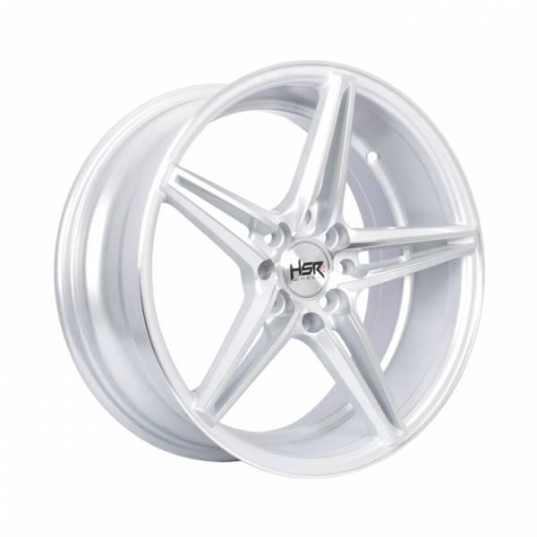 HSR NE5 Ring 16x7 H8x100-114.3 ET40 Silver Machine Face1