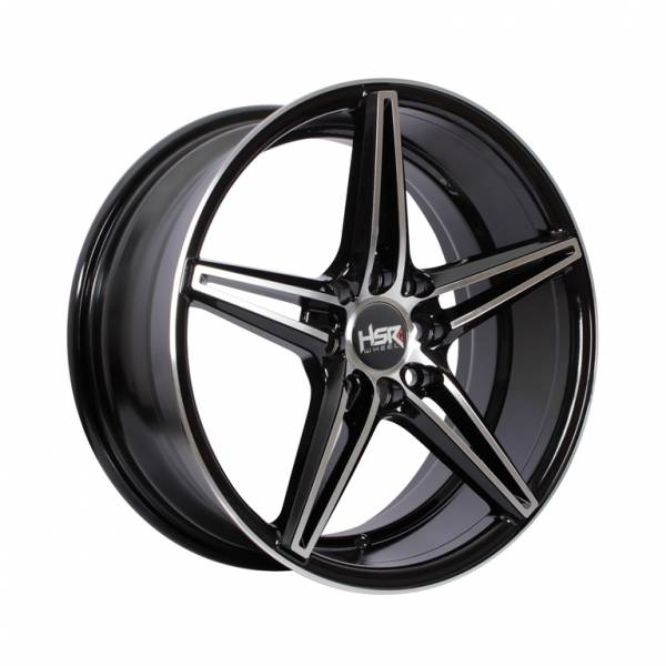 HSR NE5 Ring 16x7 H8x100-114,3 ET40 Black Machine Face1