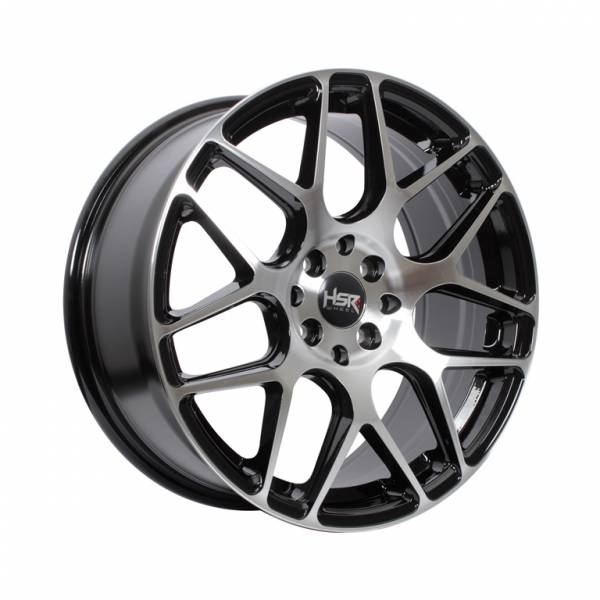 HSR P40 Ring 16x7 H8x100-114,3 ET42 Black Machine Face1