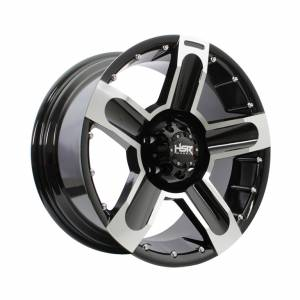 HSR Pomahan 85036 Ring 18x9 H5x114,3 ET25 Black Machine Face1
