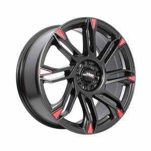 HSR Sirius JD20 Ring 18x8 H10x100-114,3 ET45 Semi Matte Black Red1
