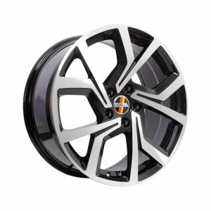 HSR Wender 901B Ring 18x8 H5x112 ET45 Black Machine Face1