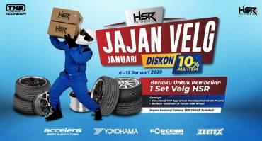 Promo Jajan Velg Januari HSR Wheel, Ada Diskon 10% All Item untuk Pembelian 1 Set Velg Lho!