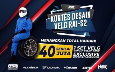 Mau 1 Set Velg HSR & Drifting Bareng Akbar Rais? Yuk, Ikuti Kontes Velg RAI-S2