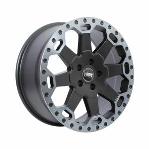 HSR BAHOROK H BW200 Ring 18x8 H5x114,3 ET35 Matte Black Grey Machine Lips1
