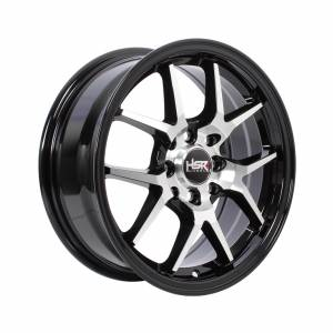 HSR Hyura BOROKO02 Ring 15x6,5 H8x100-114,3 ET42 Black Machine Face1