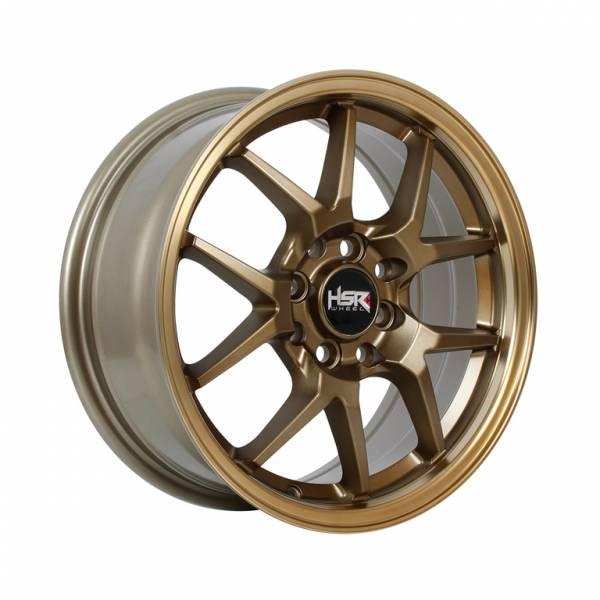 HSR Hyura BOROKO02 Ring 15x6,5 H8x100-114,3 ET42 Semi Matte Bronze Machine Lips1